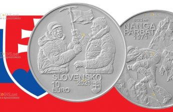 Словакия монета 10 евро 50-летие первого успешного восхождения словацких альпинистов на восьмитысячник