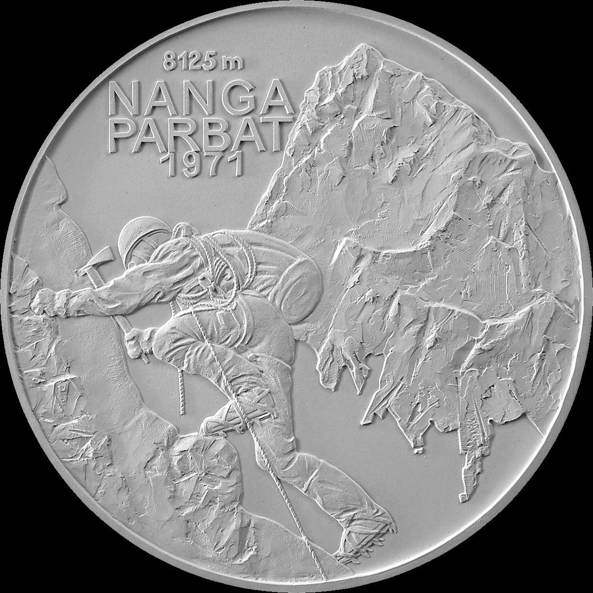 Словакия монета 10 евро 50-летие первого успешного восхождения словацких альпинистов на восьмитысячник, реверс