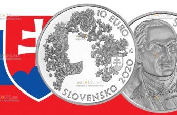 Словакия монета 10 евро Андрей Сладкович