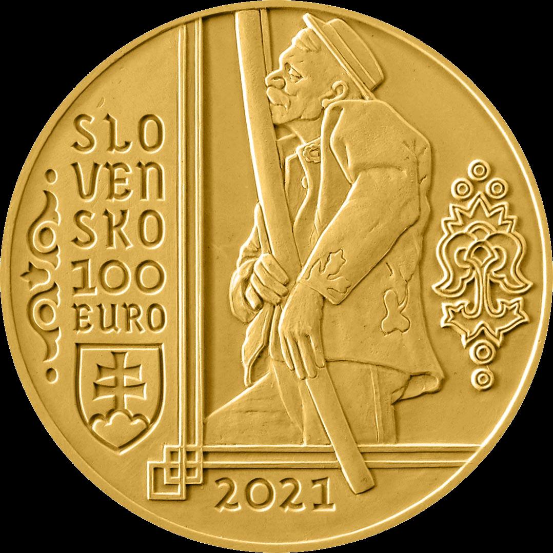 Словакия монета 100 евро Фуяра, аверс