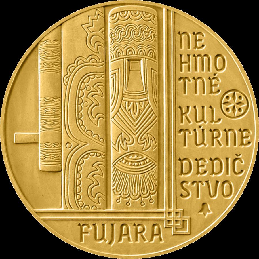 Словакия монета 100 евро Фуяра, реверс