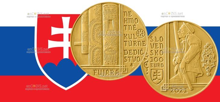 Словакия монета 100 евро Фуяра