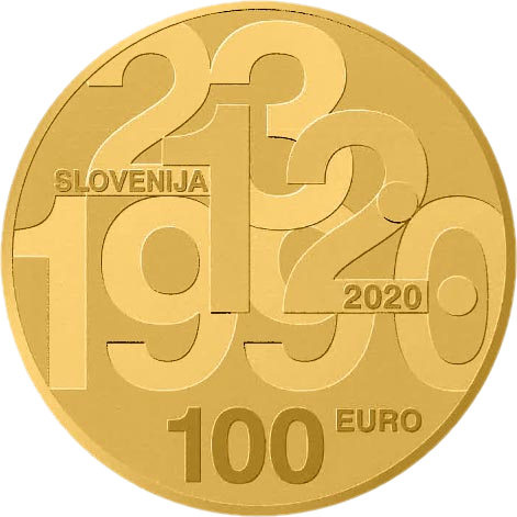 Словения монета 100 евро 30-летие плебисцита о суверенитете и независимости, аверс