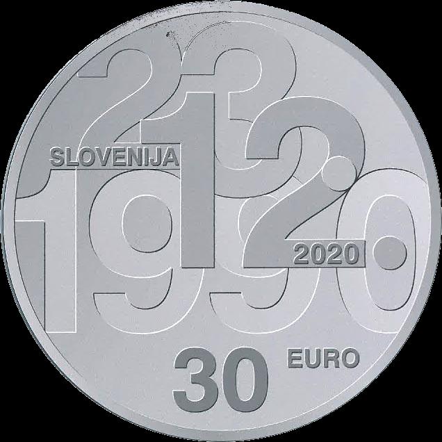 Словения монета 30 евро 30-летие плебисцита о суверенитете и независимости, аверс