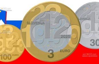Словения монеты к 30-летию плебисцита о суверенитете и независимости
