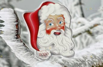 Соломоновы острова монета 2 доллара Дед Мороз