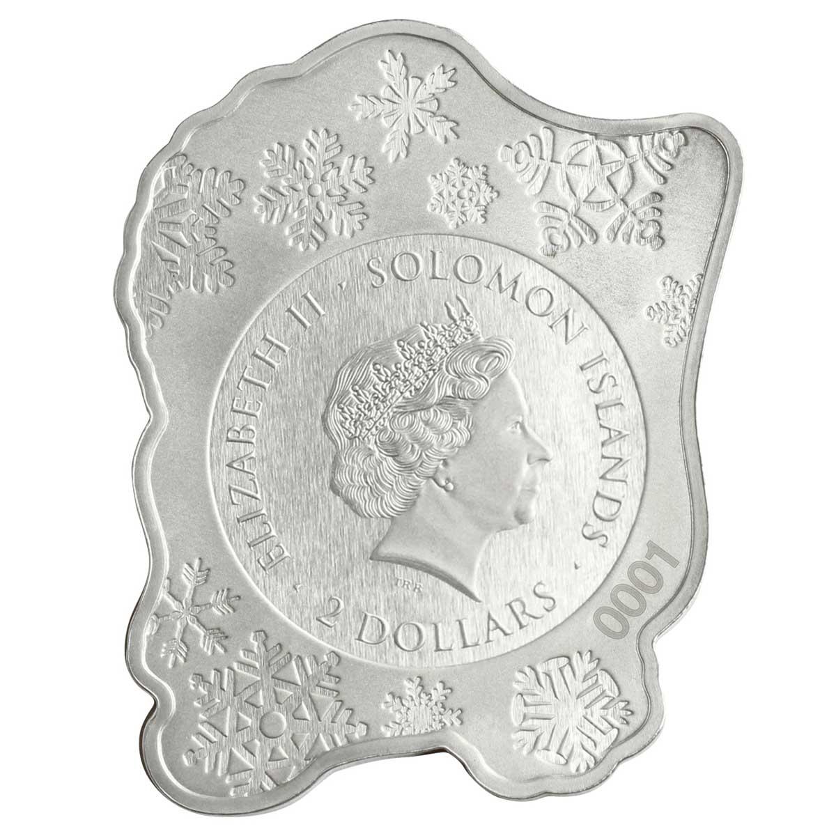 Соломоновы острова монета 2 доллара Дед Мороз, аверс