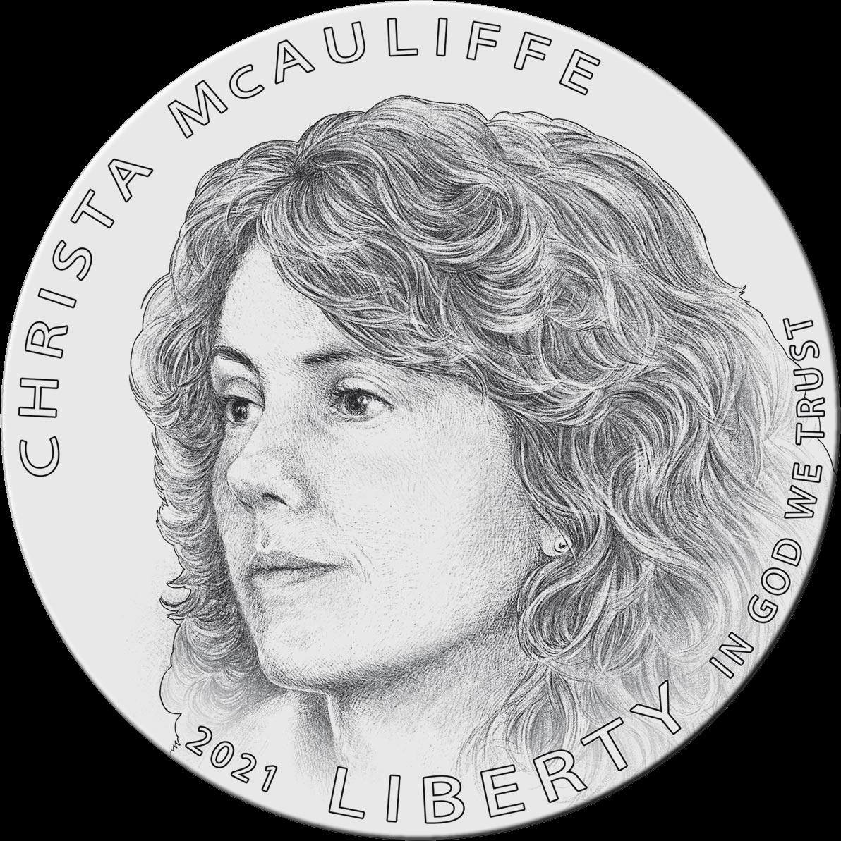 США 1 доллар Криста МакОлифф, реверс
