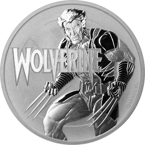 Тувалу монета 1 доллар Росомаха, реверс