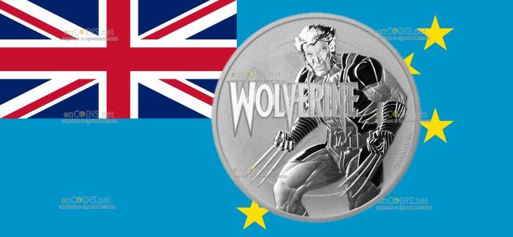 Тувалу монета 1 доллар Росомаха
