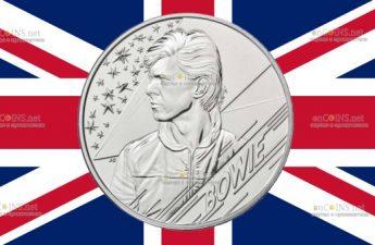 В Британии монета 2 фунта Дэвид Боуи