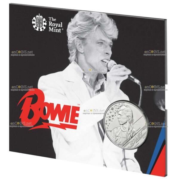 В Британии монета 2 фунта Дэвид Боуи, подарочная упаковка
