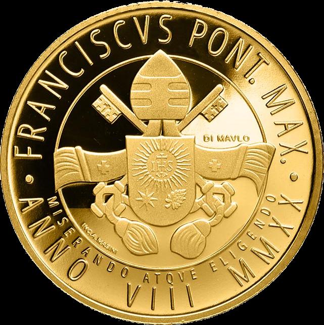 Ватикан монета 200 евро Святой Архангел Гавриил, аверс
