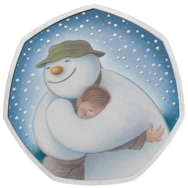 Великобритания монета 50 пенсов Снеговик 2020, реверс