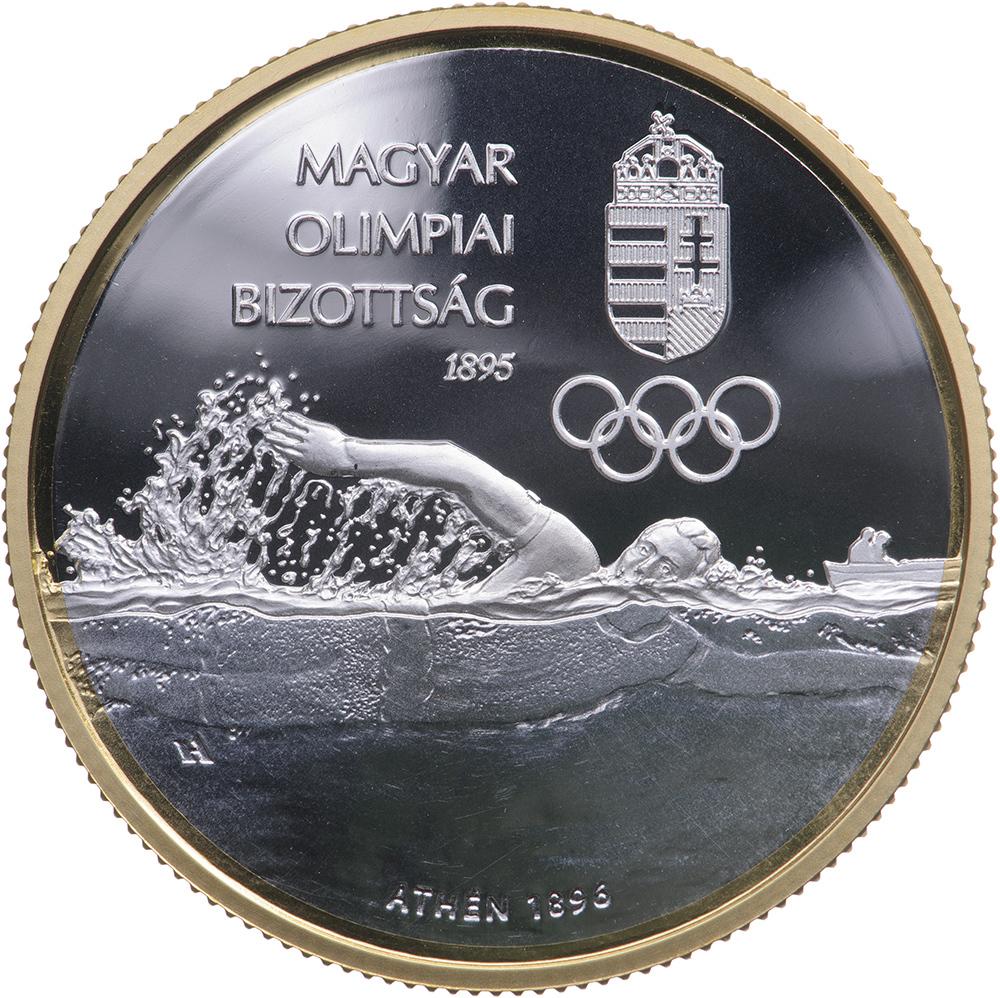 Венгрия монета 10000 форинтов 125-летия Олимпийского комитета Венгрии, реверс