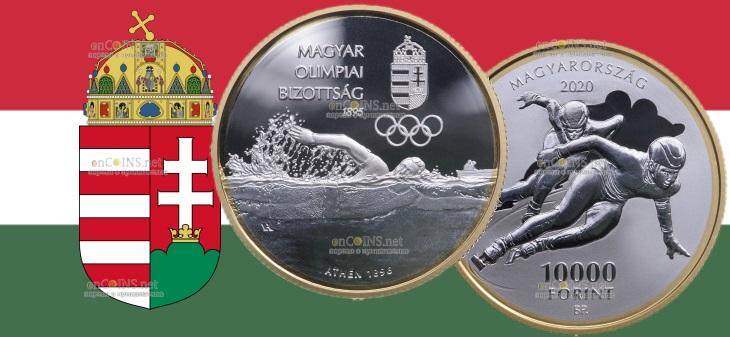 Венгрия монета 10000 форинтов 125-летия Олимпийского комитета Венгрии