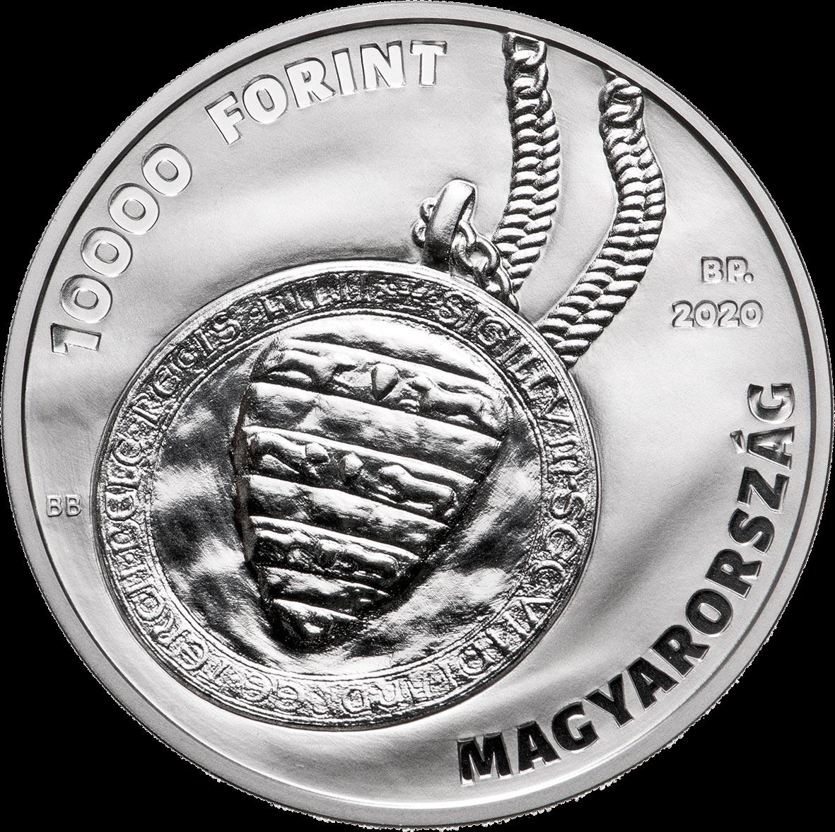 Венгрия монета 10000 форинтов 30 лет Конституционного Суда Венгрии, аверс