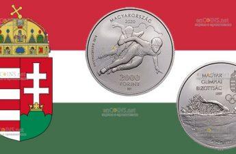 Венгрия монета 2000 форинтов 125-летия Олимпийского комитета Венгрии