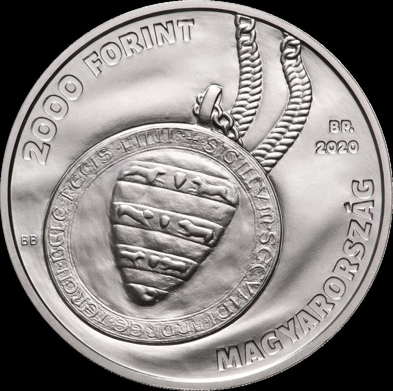 Венгрия монета 2000 форинтов 30 лет Конституционного Суда Венгрии, аверс