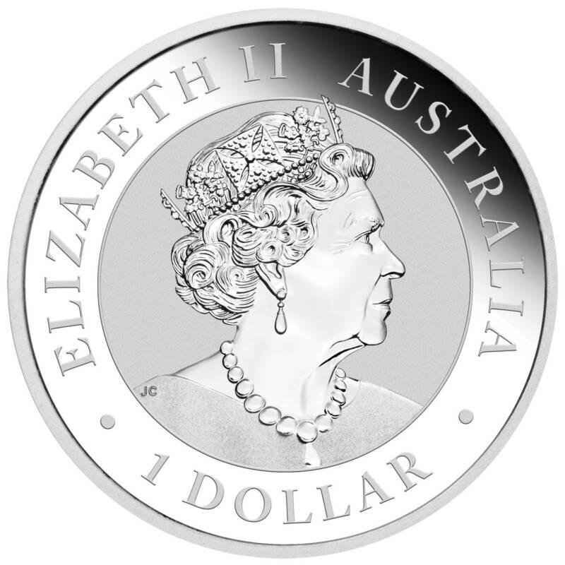 Австралия монета 1 доллар аверс 2021 год