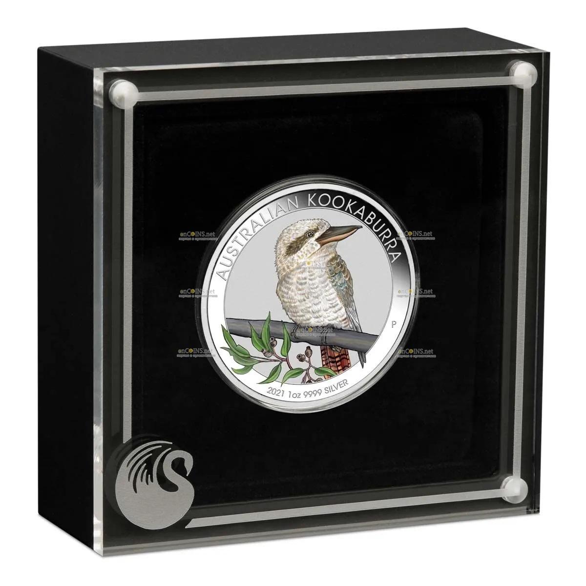 Австралия монета 1 доллар кукабара, подарочная упаковка