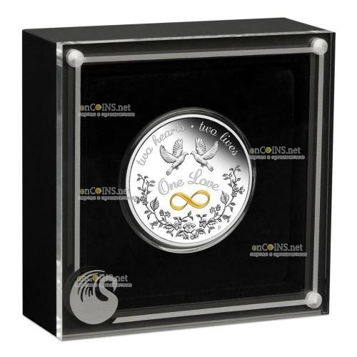 Австралия монета 1 доллар Одна любовь, подарочная упаковка