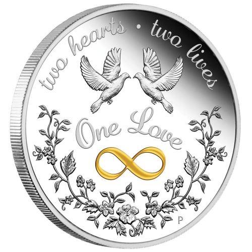 Австралия монета 1 доллар Одна любовь, реверс