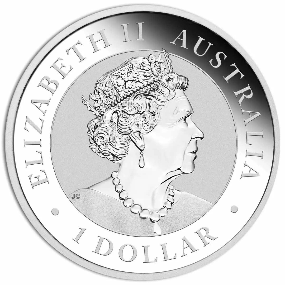 Австралия монета 1 доллар, серебро, 2021 год, аверс