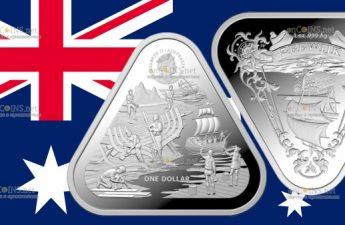 Австралия монета 1 доллар Зеевик
