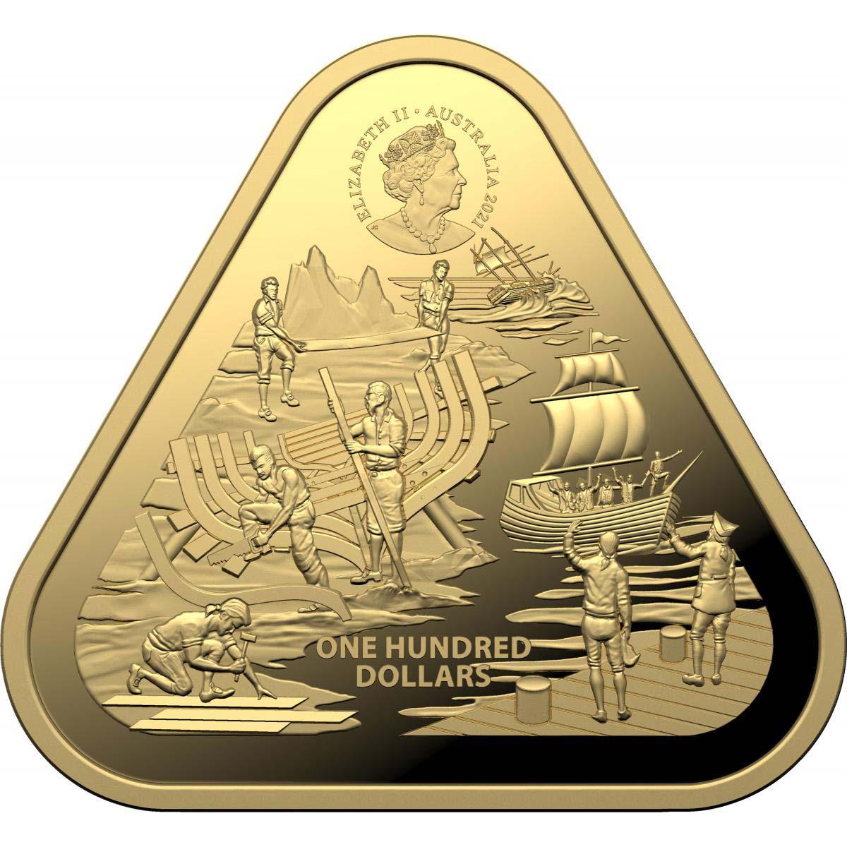 Австралия монета 100 долларов Зеевик, аверс