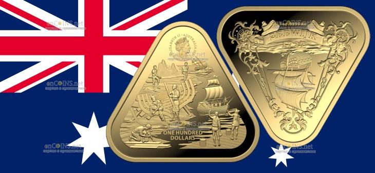Австралия монета 100 долларов Зеевик