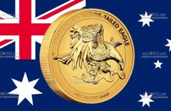 Австралия монета 100 долларов Австралийский клинохвостый орел
