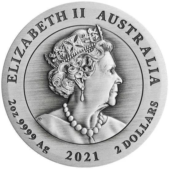Австралия монета 2 доллар Год Быка, аверс