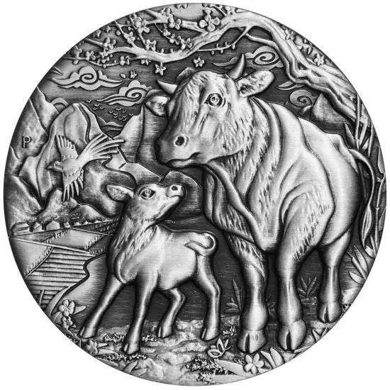 Австралия монета 2 доллар Год Быка, реверс