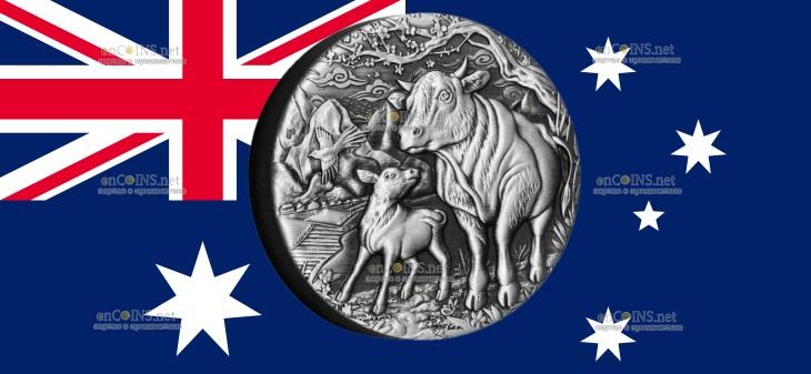 Австралия монета 2 доллар Год Быка