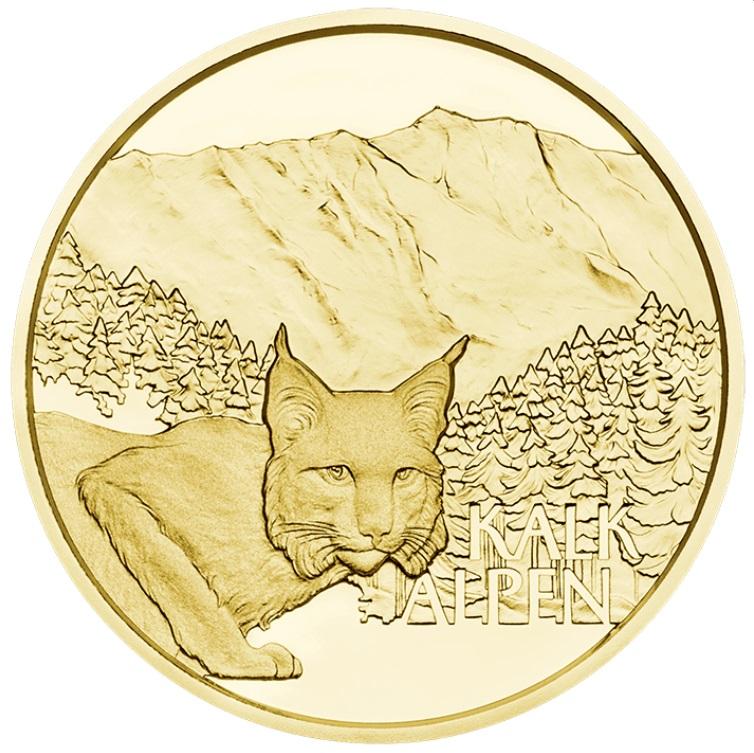 Австрии монета 50 евро Альпийские леса, реверс