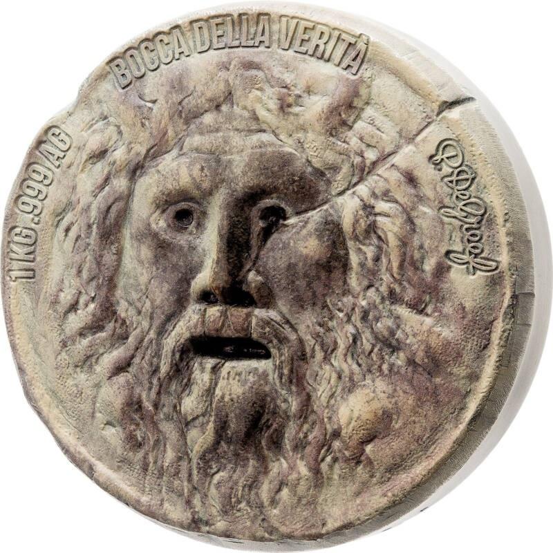 Бенин монета 10000 франков Уста Истины, реверс