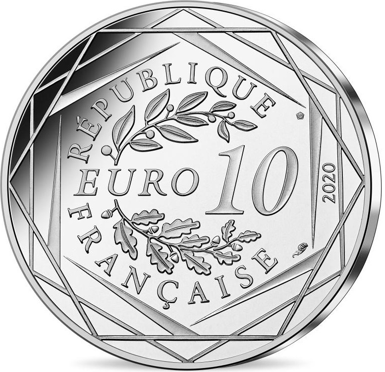 Франция монета 10 евро 2020 год, аверс