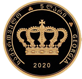 Грузия монета 5 лари царь Ираклий II, аверс