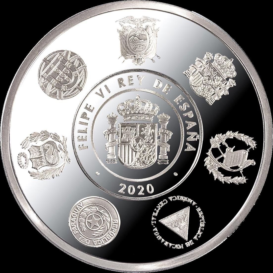 Испания монета 5 евро 12-я иберо-американская серия, аверс