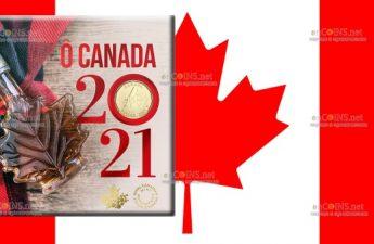 Канада монета 1 доллар О Канада