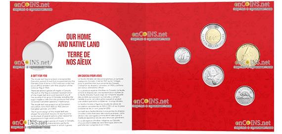 Канада монета 1 доллар О Канада, подарочная упаковка