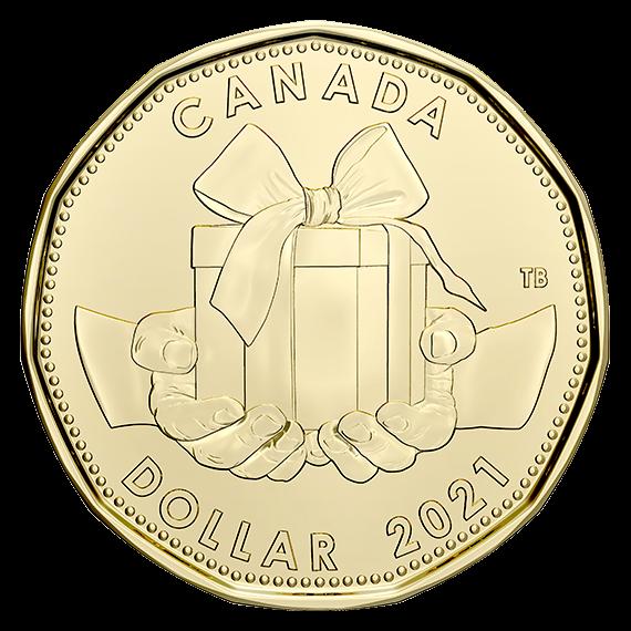 Канада монета 1 доллар Подарочная монета, реверс