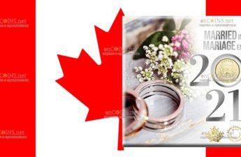 Канада монета 1 доллар Свадебная монета