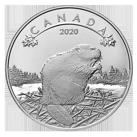 Канада монета 10 долларов Бобер, реверс