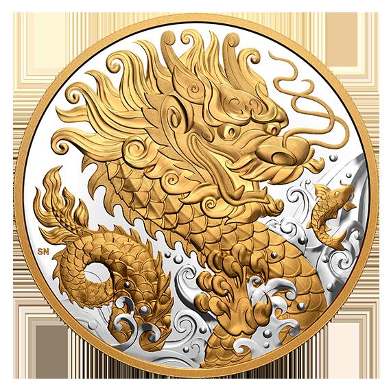 Канада монета 125 долларов Триумфальный Дракон, реверс