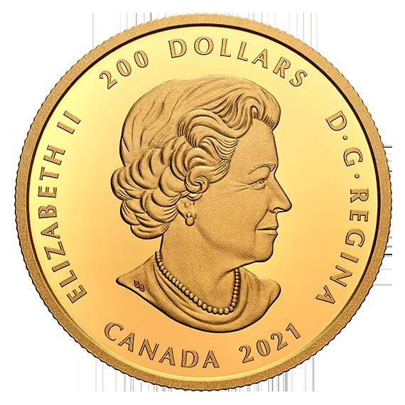 Канада монета 200 долларов Людовик XIV 30 Денье, аверс