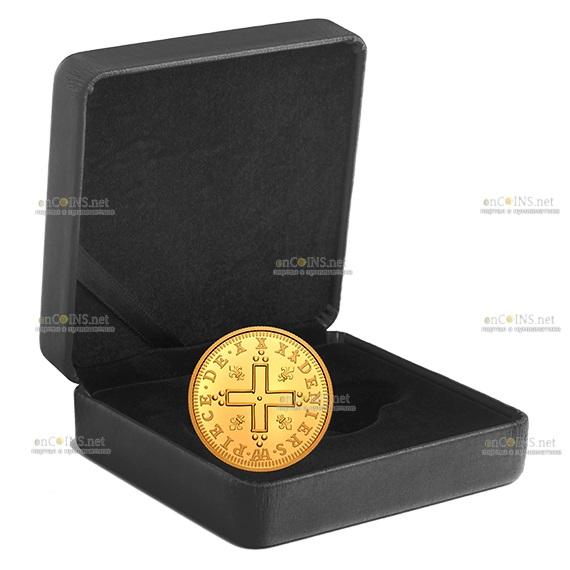 Канада монета 200 долларов Людовик XIV 30 Денье, подарочная упаковка