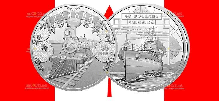 Канада монета 50 долларов Развивающаяся Страна