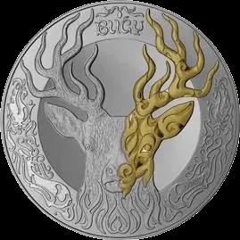 Казахстан монета 200 тенге BUǴY, реверс